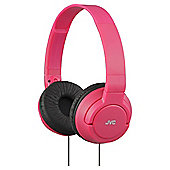 JVC HA-S180 Deep Bass On-Ear Headphones - Red