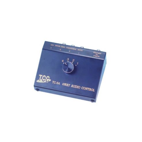 Four-Way Stereo Audio Switch Box