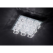 Action Vision 36cm Flush Ceiling Light in Glass