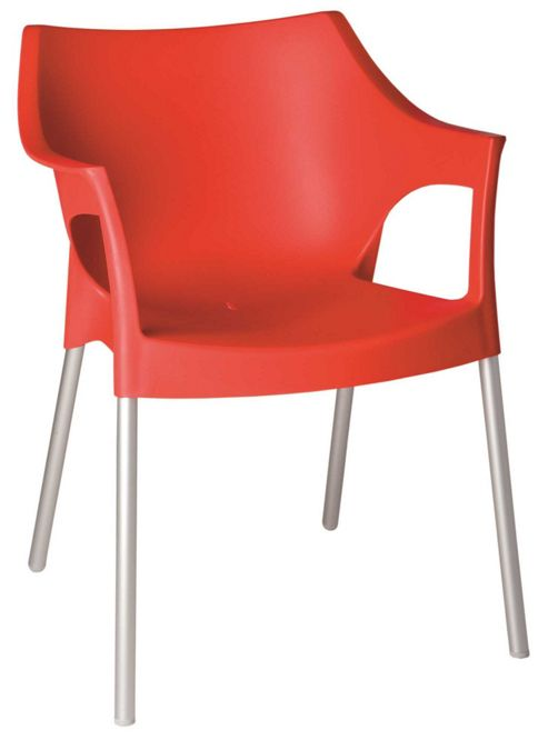 Buy Resol Pole Garden Outdoor Indoor Plastic Aluminium Chairs Red X4 Chairs From Our