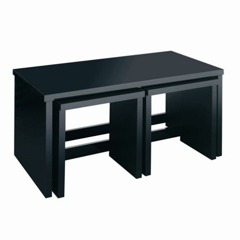 Caxton Manhattan Long John Table in Black Gloss