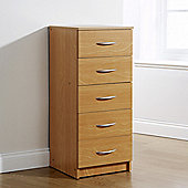 Elements Kirkland 5 Drawer Tallboy Chest - Beech
