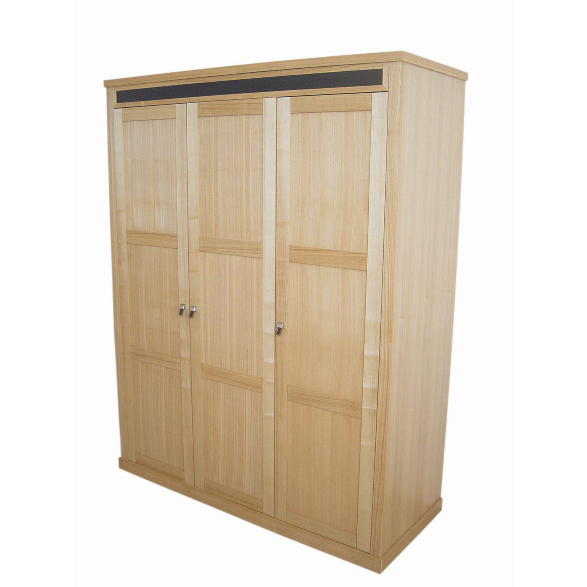Home Zone Chelsea Three Door Wardrobe in Oak at Tesco Direct