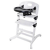 East Coast Contour Multi Height High Chair, White