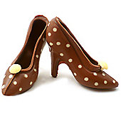 Polka Dot Belgian Chocolate Shoes - Small