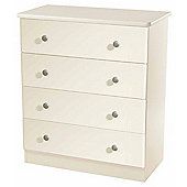 Welcome Furniture Kingston 4 Drawer Chest - Cream
