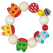 Heimess 762630 Wooden Elasticated Touch Ring Rattle (Mini Train)