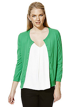 F&F Stretch Cardigan with As New Technology - Green