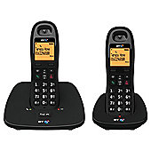 BT 1000 Twin Cordless Telephone , Black