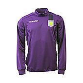 2013-14 Aston Villa Half Zip Training Fleece (Purple) - Purple