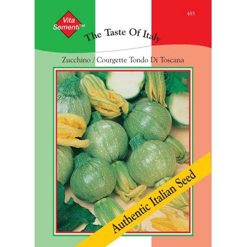 Courgette 'Tondo di Toscana' - Vita Sementi® Italian Seeds - 1 packet (45 courgette seeds)
