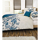 Dreams 'N' Drapes Rosso Duvet Set in Teal - Double