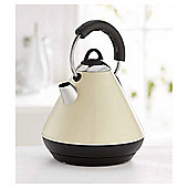 Tesco Pyramid Kettle, 1.6L - Cream