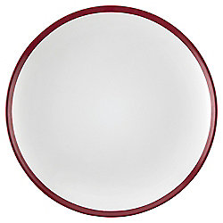 Two Tone Dinner Plate, Stoneware, Red