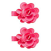 Mothercare Young Girls Pink Corsage Croc Clips - 2 Pack