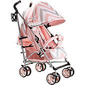 My Babiie MB51 Stroller (Pink Chevron)