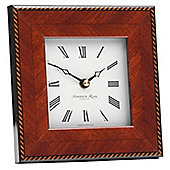 Addison Ross Marquetry Photo Frame Clock with Rope Fibre Back in Brown
