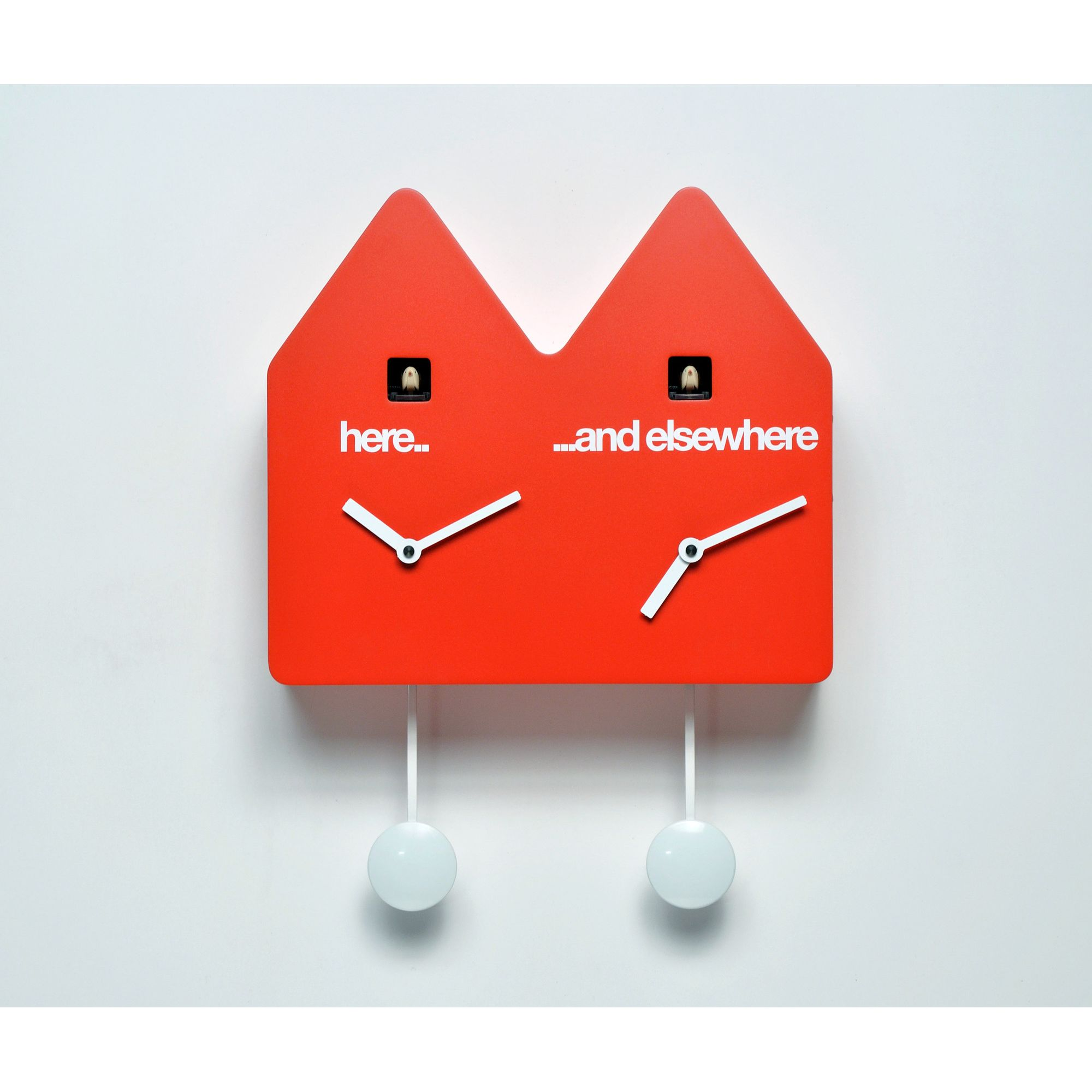 Progetti Double Q Cuckoo Clock - Red at Tesco Direct