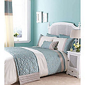 Catherine Lansfield Home Fine Luxury Collection Lois Super King Duvet Cover Set Duckegg