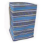 Wicker Valley One Piece Square Soft Storage in Blue Stripe