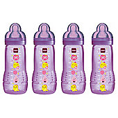 MAM Baby Bottle 330ml 4pk Purple
