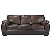 Alberta 3 Seater Leather Sofa Bed, Chocolate