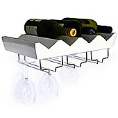 Monterey - 4 Bottle Wall Mounted Floating Wine Storage Shelf - White