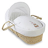 Clair de Lune Tippy Tumble Palm Moses Basket (White)