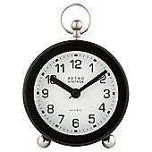 Tesco Fob Top Alarm Clock, Black