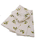 Epicurean Olive 4 Piece Napkin Set