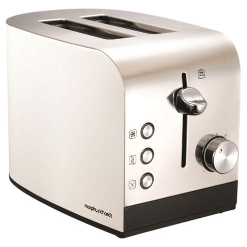 Jul13 2 Slice Accents Toaster White