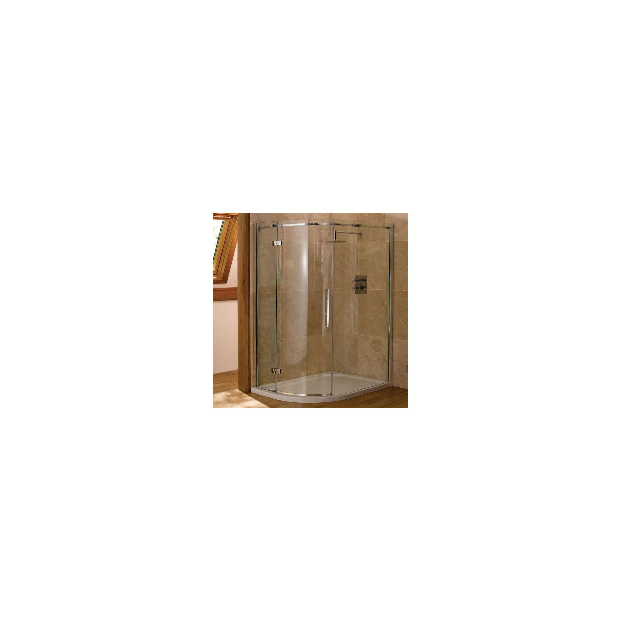 Merlyn Vivid Nine Offset Quadrant Shower Enclosure, 900mm x 760mm, Right Handed, Low Profile Tray, 8mm Glass at Tesco Direct