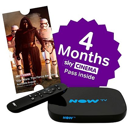 NOW TV Smart Boxes with Sky Movies & Entertainment Pass