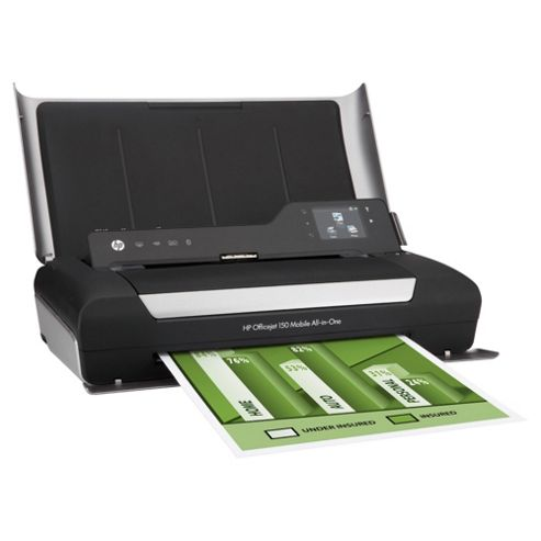 HP Officejet 150 Mobile (A4) Colour Inkjet All-in-One Bluetooth Printer 64MB 5.99cm Touchscreen CGD 5ppm (Mono) 3.5ppm (Colour) 500 (MDC)