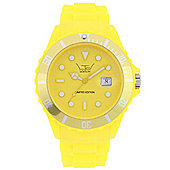 LTD Classic Silicon Unisex Yellow Silicone Date Watch 51301