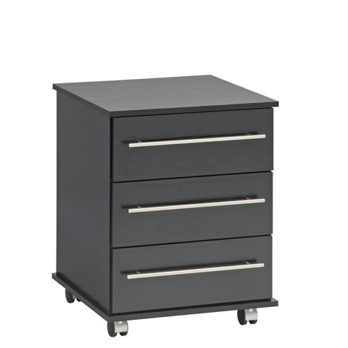 Ideal Furniture Bobby 3 Bedside Table - Black
