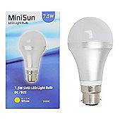 MiniSun B22 7.5W SMD LED GLS Bulb 3000K 630 Lumens