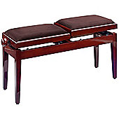 Rocket Double Piano Bench Mahogany