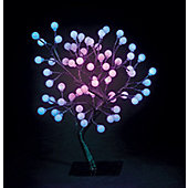 Snowtime S-Shape Globe Tree - Colour-Changing - 45 cm H