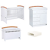 Tutti Bambini 4 Piece Nursery Room Set with Sprung Mattress