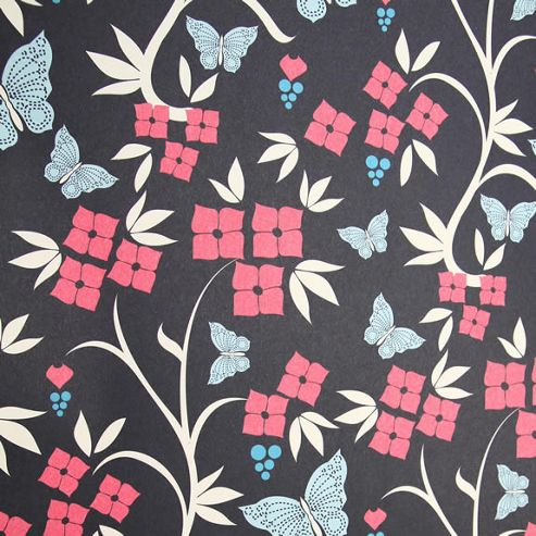 Rosehip Gift Wrap - Blue and Pink Butterfly