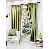 Rome Ready Made Lined Curtains - Green