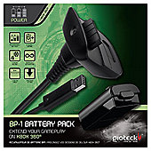 Gioteck BP1 Battery Pack & Charging Cable - Xbox 360