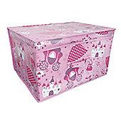 Country Club Jumbo Storage Chest, Pink Princess, 50 x 40 x 30cm