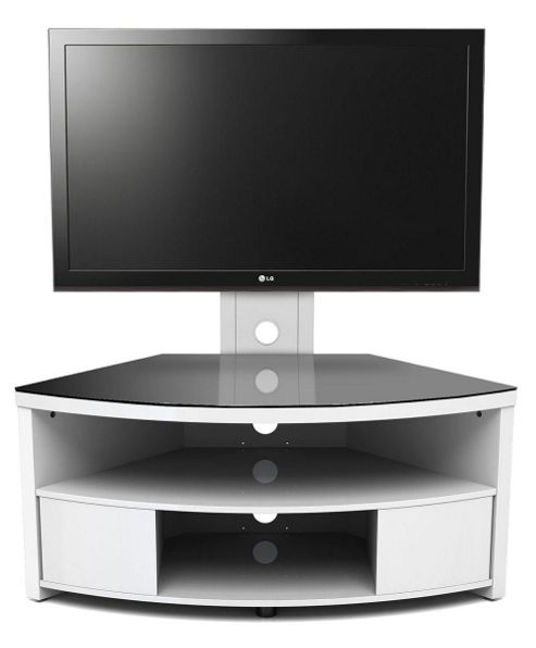 Gecko Gloss White TV Cabinet with Bracket