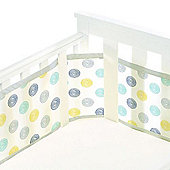 BreathableBaby Mesh Cot Liner Silver Swirl