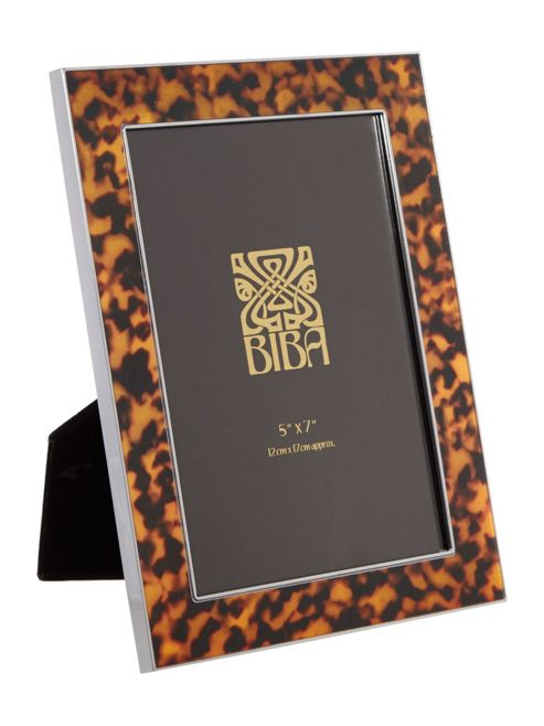 Biba Tortoise Shell Frame 5 X 7 In Black