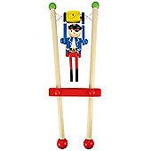 Bigjigs Toys Pirate Trapeze (Red Trapeze/Blue Pirate)