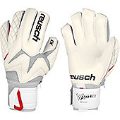Reusch Waorani Pro X1 Ortho-Tec Mens Goalkeeper Goalie Glove - White