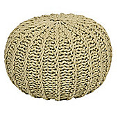 Kaikoo Knitted Ribbed Pouffe, Sage